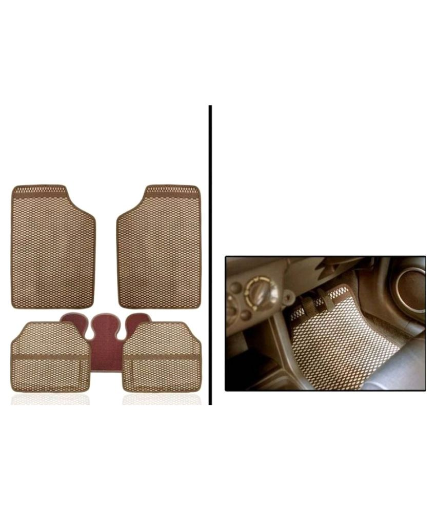 U E Beige Car Floor Mat - Set of 5