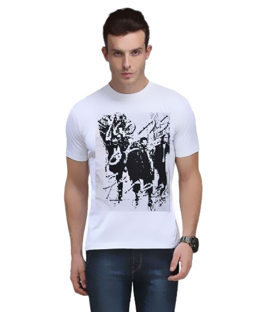 Nick White Round T-Shirt