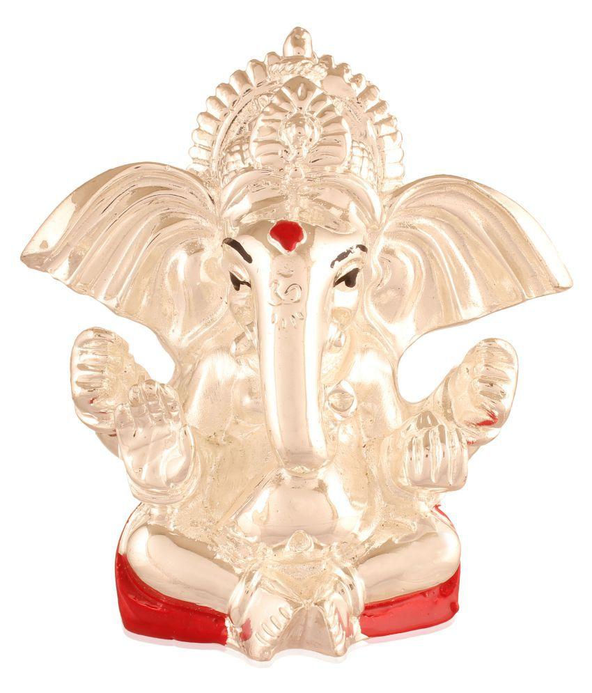 Accessher Ganesha Brass Idol