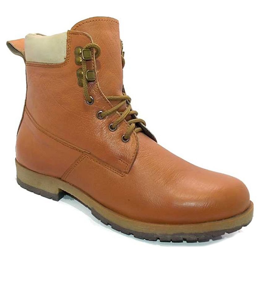 Leather Like Tan Boots