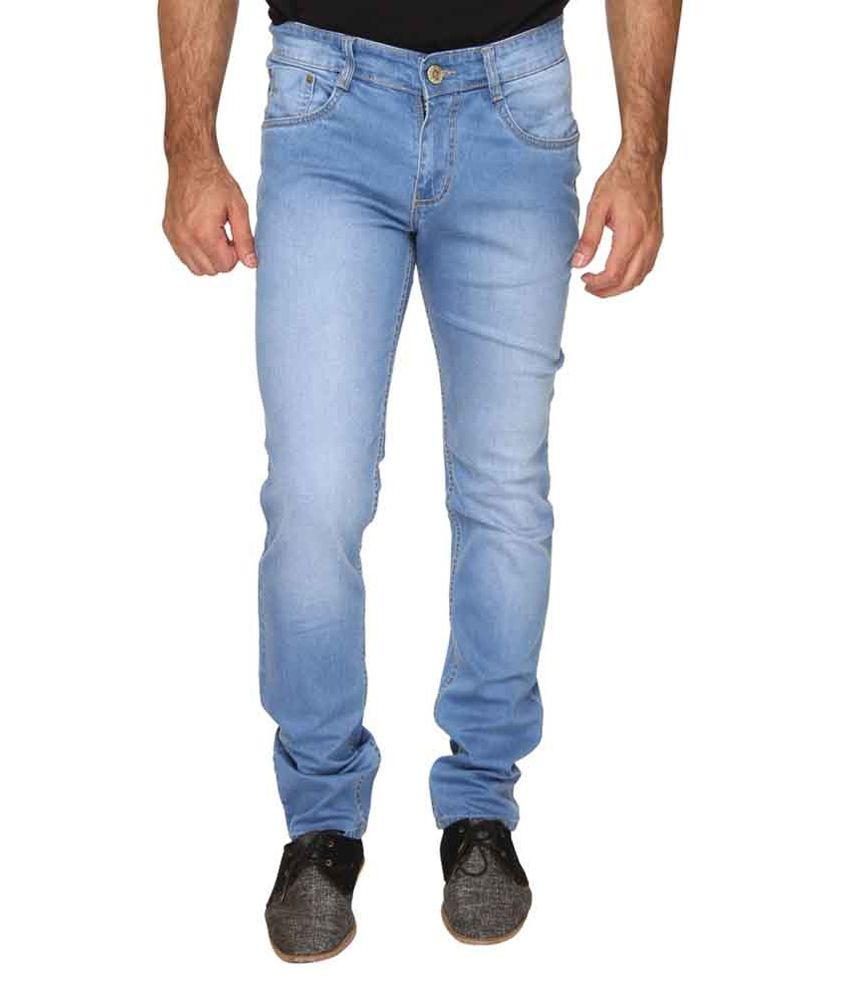 Om Fashion Blue Slim Fit Jeans