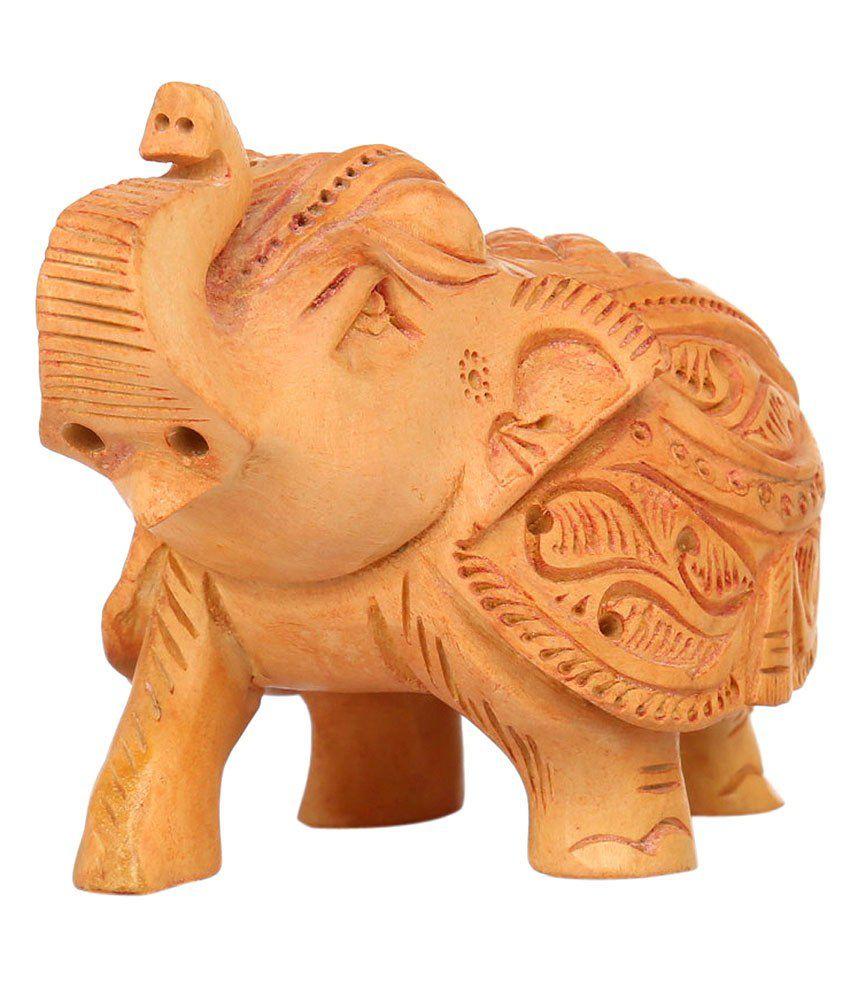 Rajrang Brown Wood Elephant