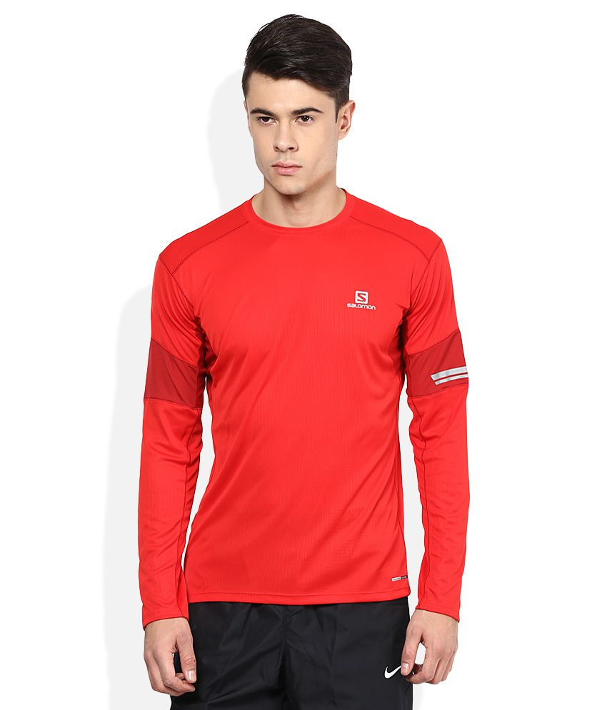 Salomon Red Polyester T Shirt