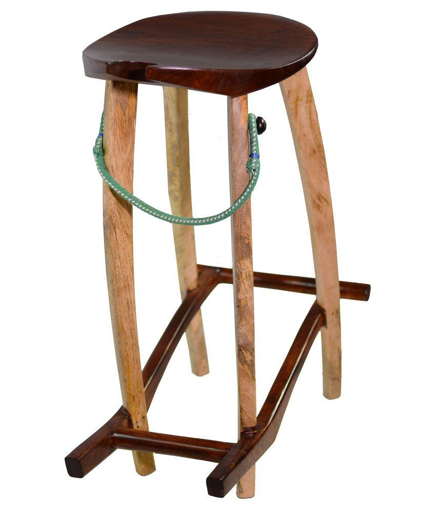 Groovy Decormonk Mango Wood Guitar Stool Buy Decormonk Mango Wood Ocoug Best Dining Table And Chair Ideas Images Ocougorg