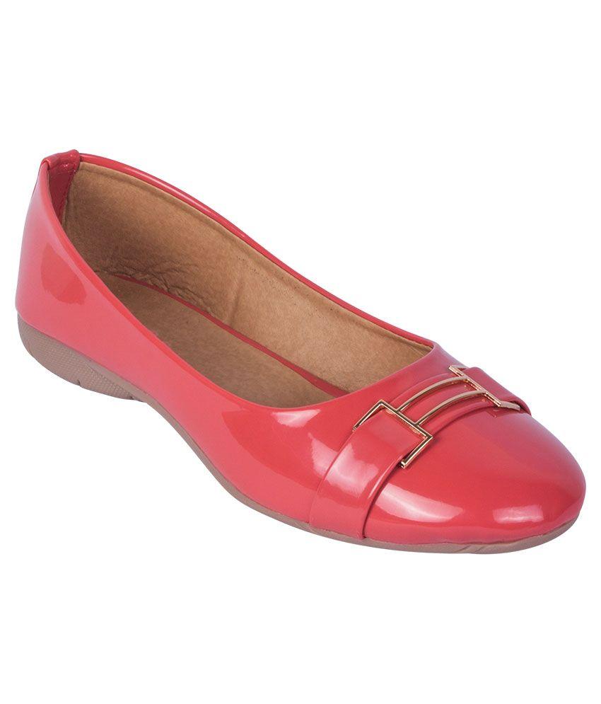 iAnna Pink Flat Ballerinas