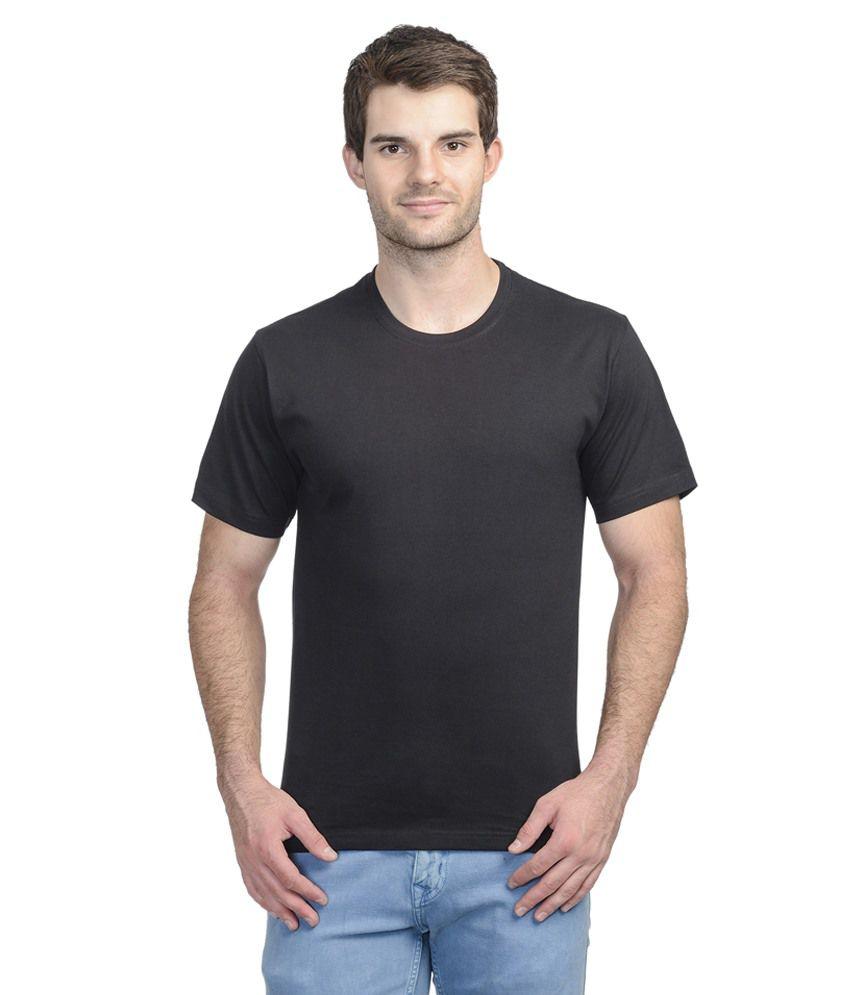 Moments Black Cotton Blend T-shirt
