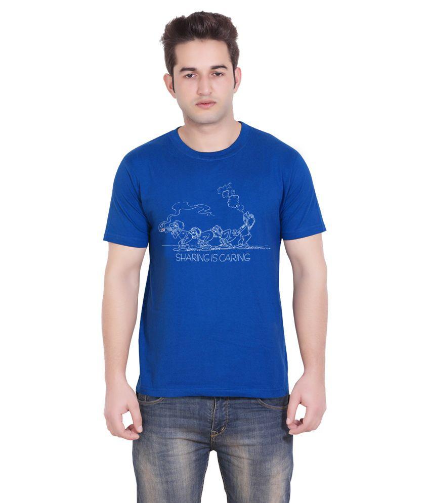 Tantra Blue Cotton T-shirt