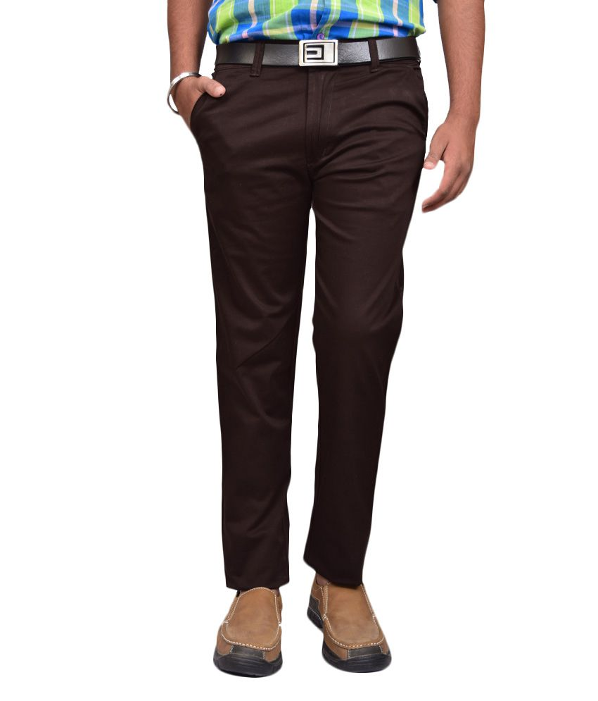 American Noti Coffee Slim Fit Casuals Chinos
