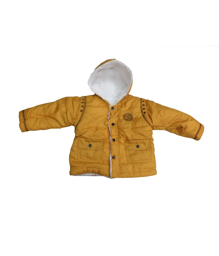 Dear Daughter Yellow Fleece Denim Jacket