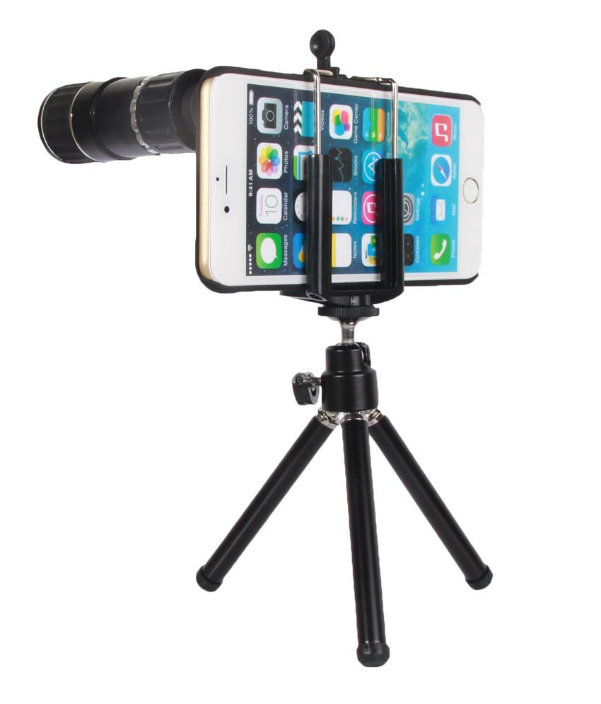 Elv Combo Of Tripod And 12x Telephoto Lens/3 Quick-connect Lens Solution For Apple Iphone 6 Plus