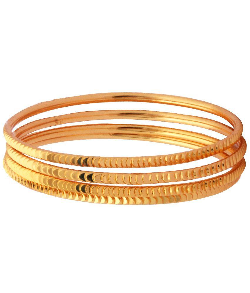 Kushi Gold Plated Bangle Set
