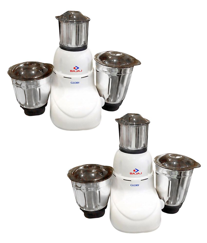 Bajaj 410167 Mixer Grinder White- Pack of 2