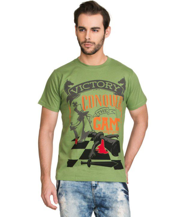 Zovi Green Cotton T Shirt