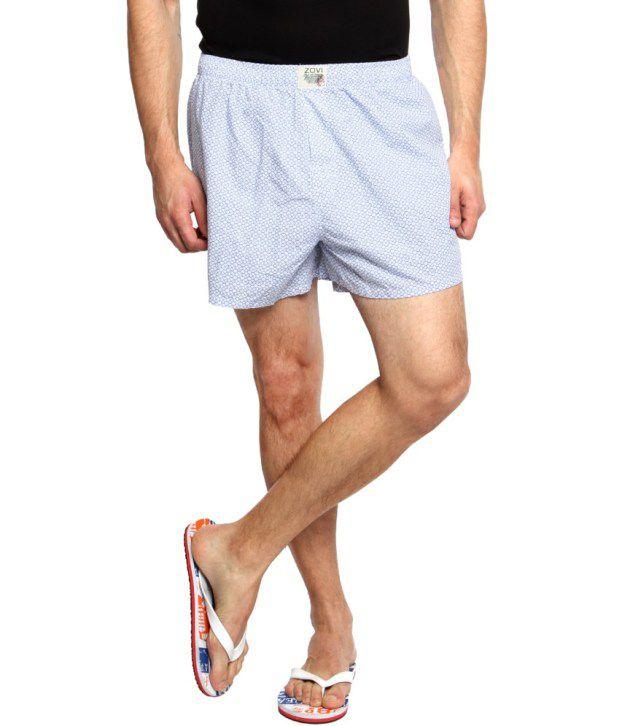 Zovi White Cotton Shorts
