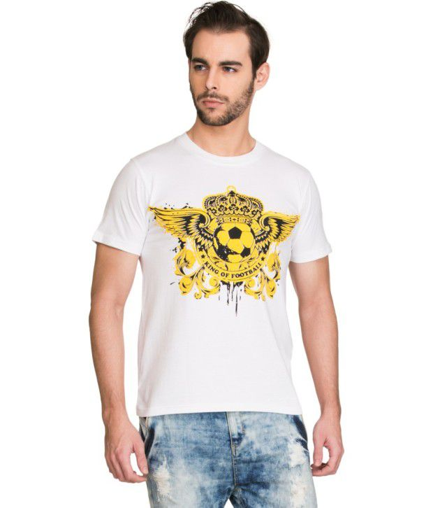 Zovi White Cotton T Shirt