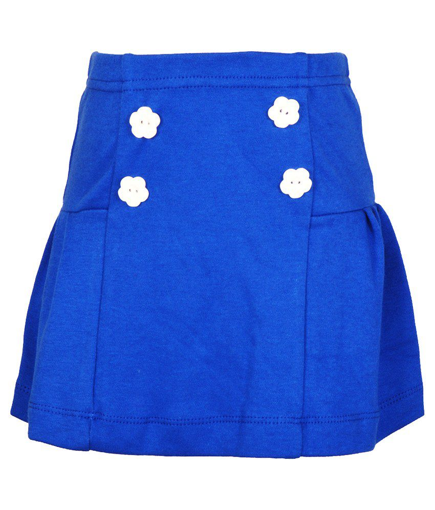 Lil Orchids Blue Skirt