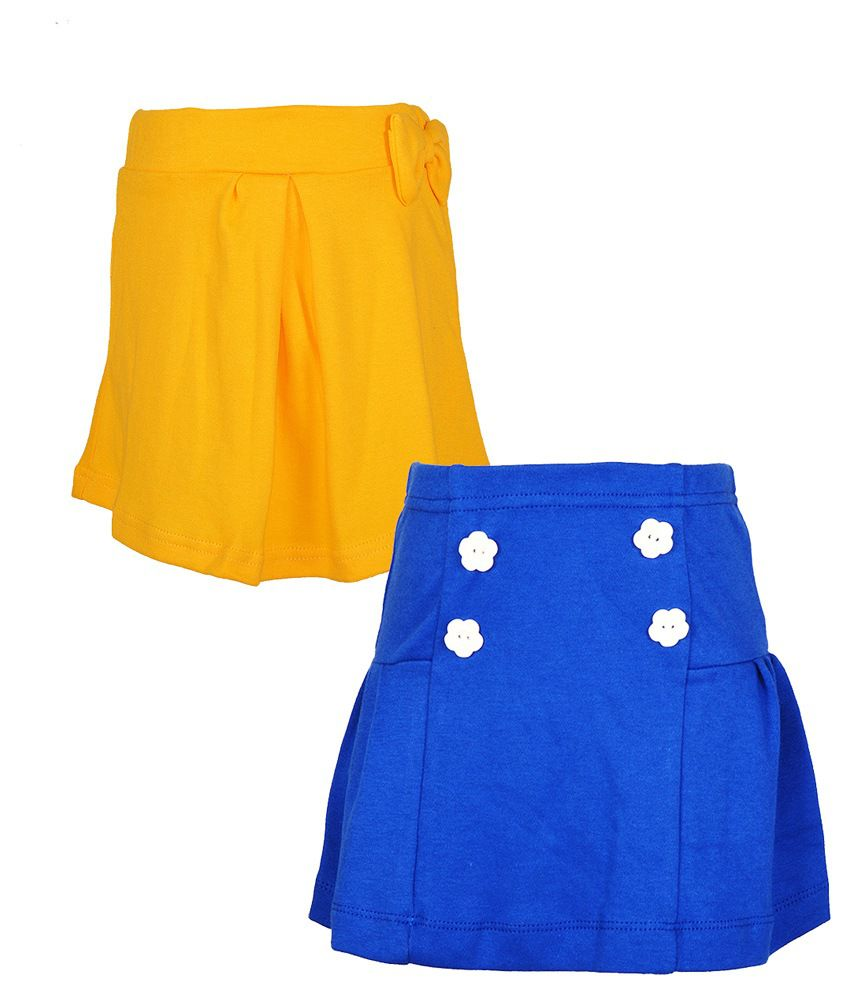 Lil Orchids Multicolour Skirt - Pack of 2
