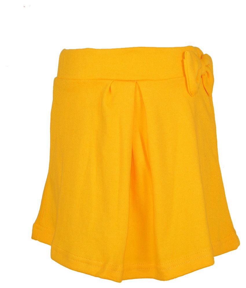 Lil Orchids Yellow Skirt
