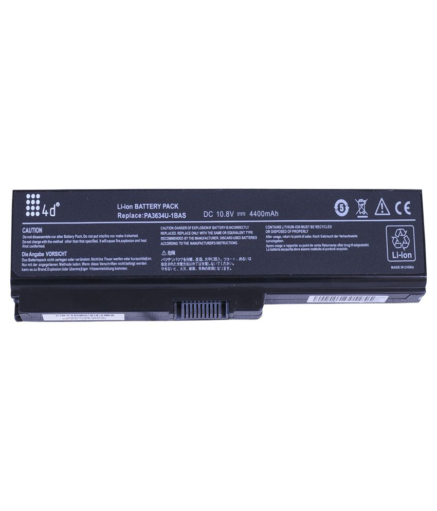 4D 4400 mAh Li-ion Laptop Battery for Toshiba L750D-14R