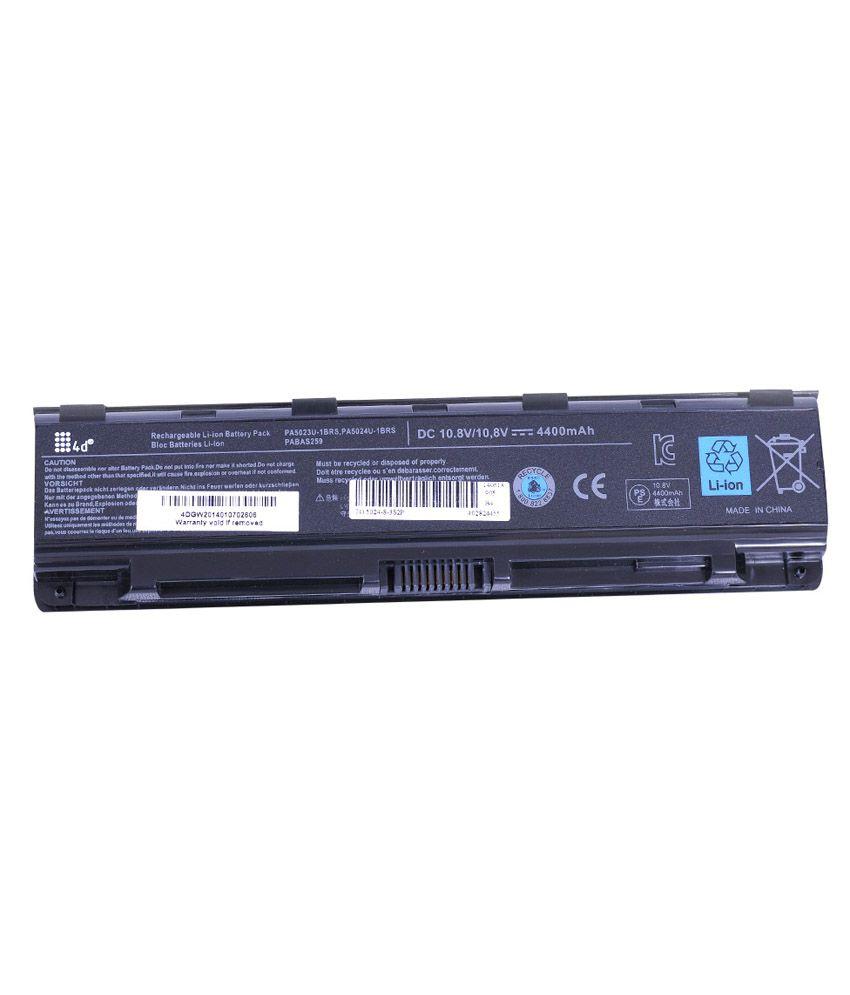 4D 4400 mAh Li-ion Laptop Battery for Toshiba C855-190