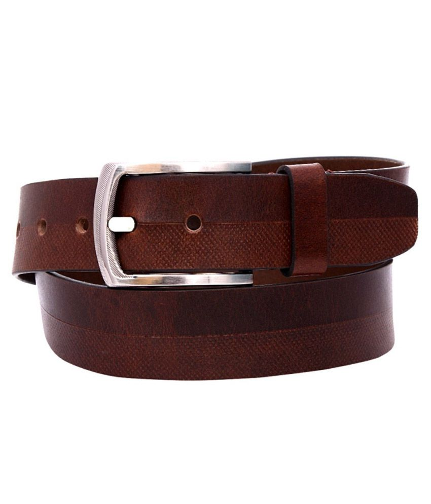 OHM Leather Brown Formal Belt For Men