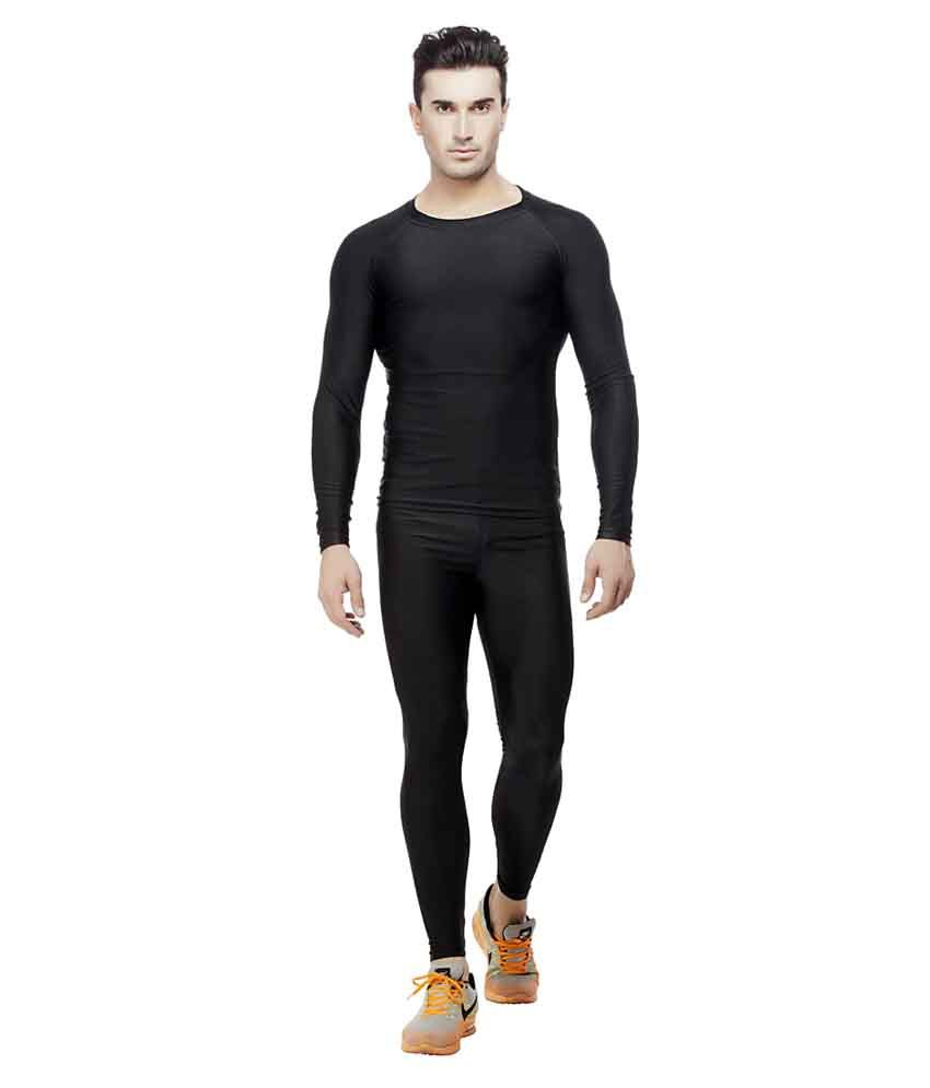 Akaira Black Polyester Cycling T-shirt