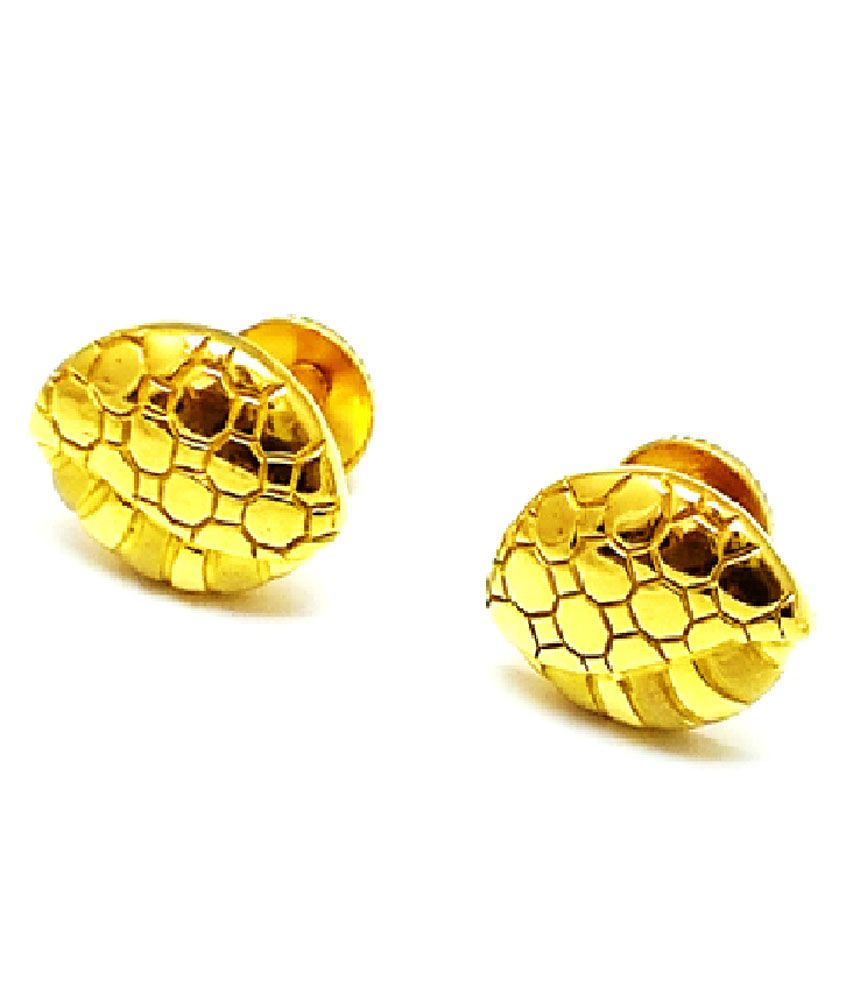 circle gold earrings l stud room property half spikey yellow