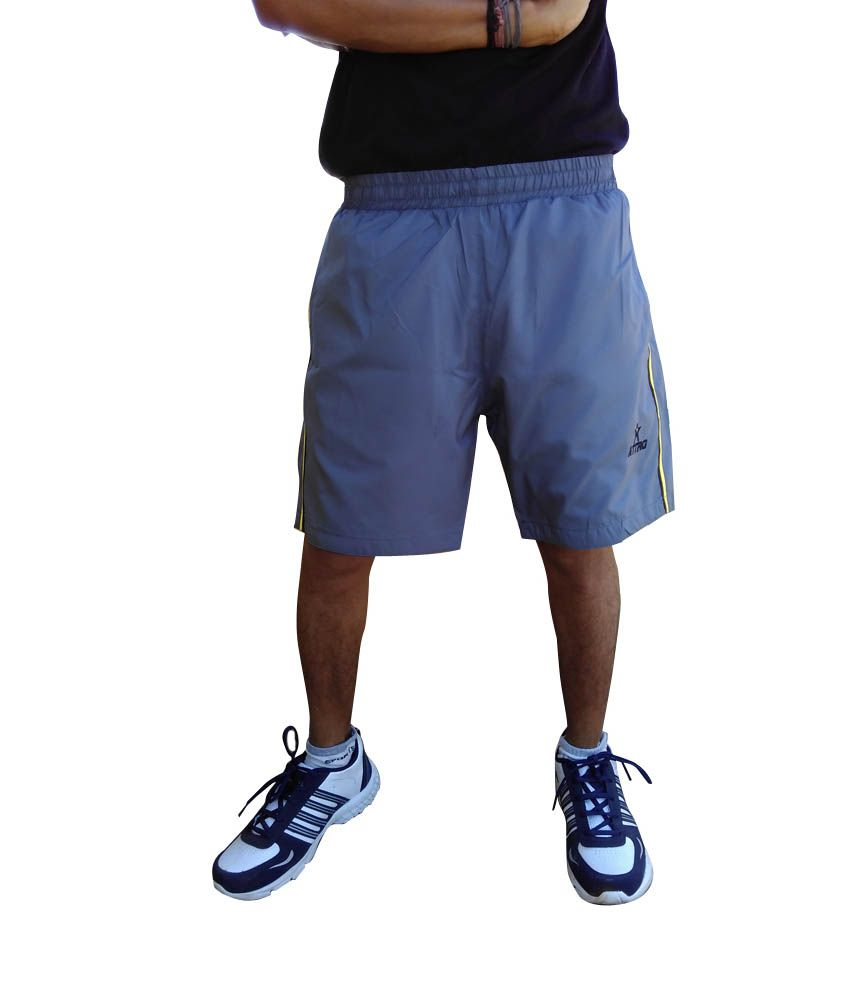 Attro Blue Polyester Shorts - Pack Of 4