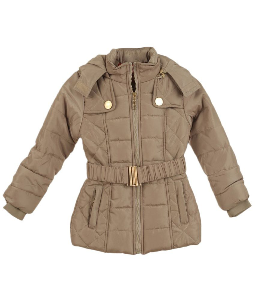 Lilliput Brown Polyster Full Sleeve Jacket With Hood