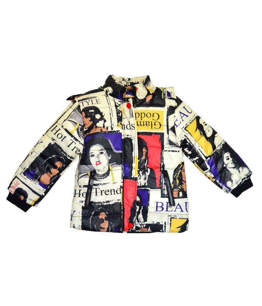 London Girl Digital Print Hooded Jackets for Girls
