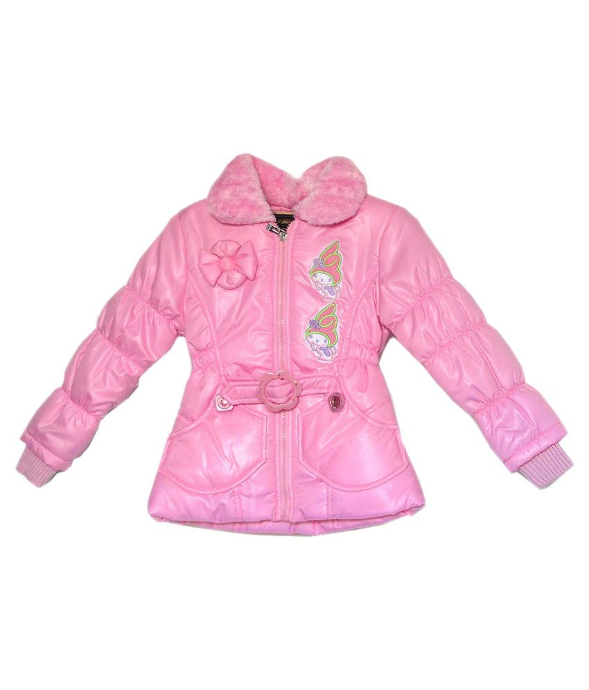 London Girl Baby Pink Hooded Jacket For Girls