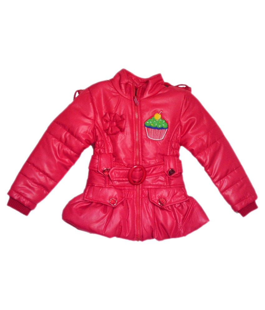 London Girl Red Ice Cup Hooded Jacket For Girls