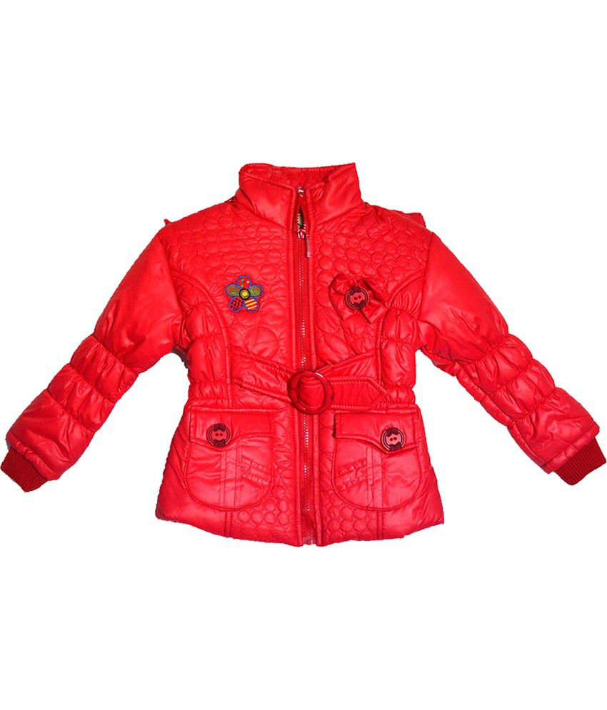 London Girl Red Hooded Jacket