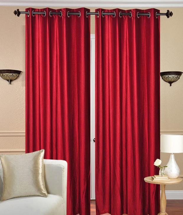 Tanishka Fabs Set of 2 Door Eyelet Curtains