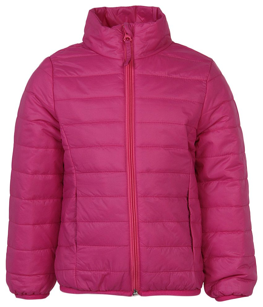 United Colors Of Benetton Pink High Neck Jacket