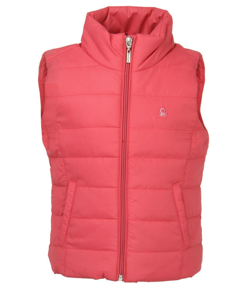 United Colors Of Benetton Pink Polyester Bomber Jacket