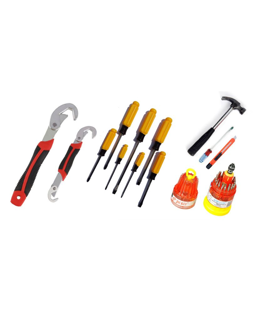 edeal combo of hammer set and 7 pieces screwdriver set and jackly 37 in 1 screwdriver set and. Black Bedroom Furniture Sets. Home Design Ideas