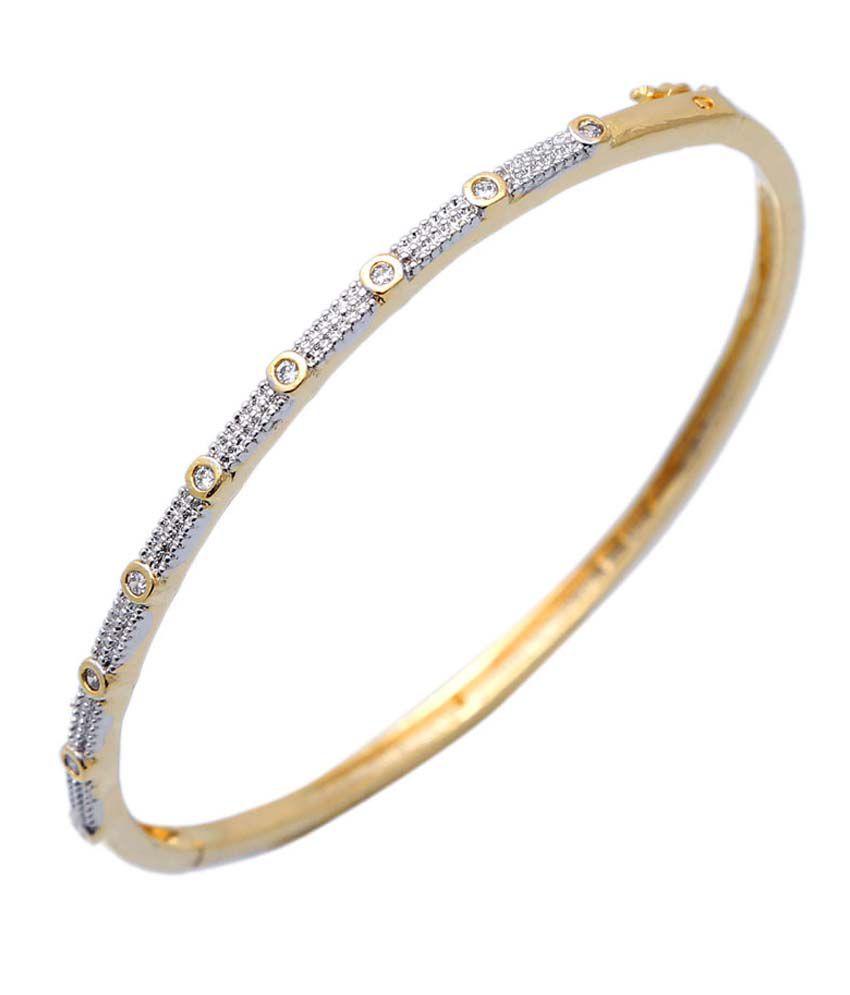 Aahna-Designer Jewellery Yellow Elegant Rhodium Austrian Diamond Bracelet