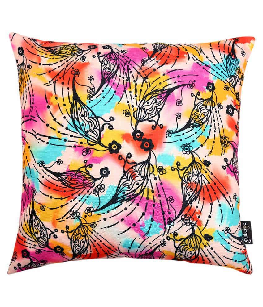 Gwbeige Multicolor Printed Poly Cotton Cushion Covers - Pack Of 2