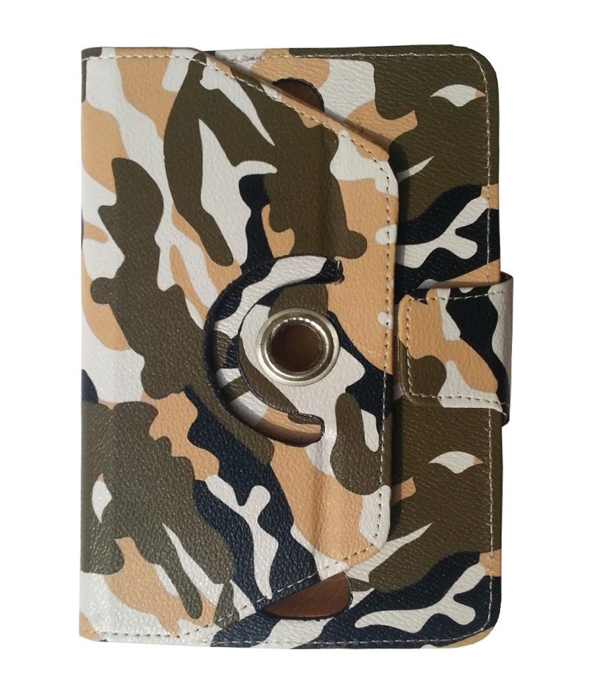 Reylon Army Rotating Flip Cover For Lava E-tab Z7 Connect Plus