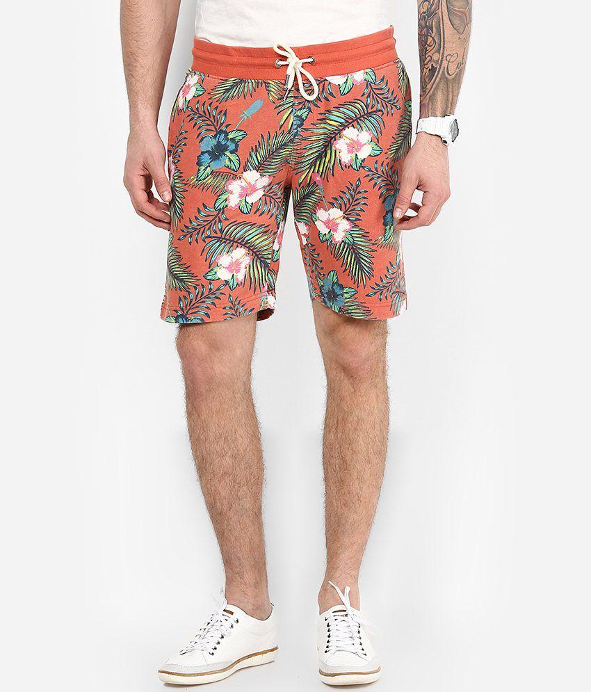 Jack & Jones Coral Regular Fit Printed Shorts