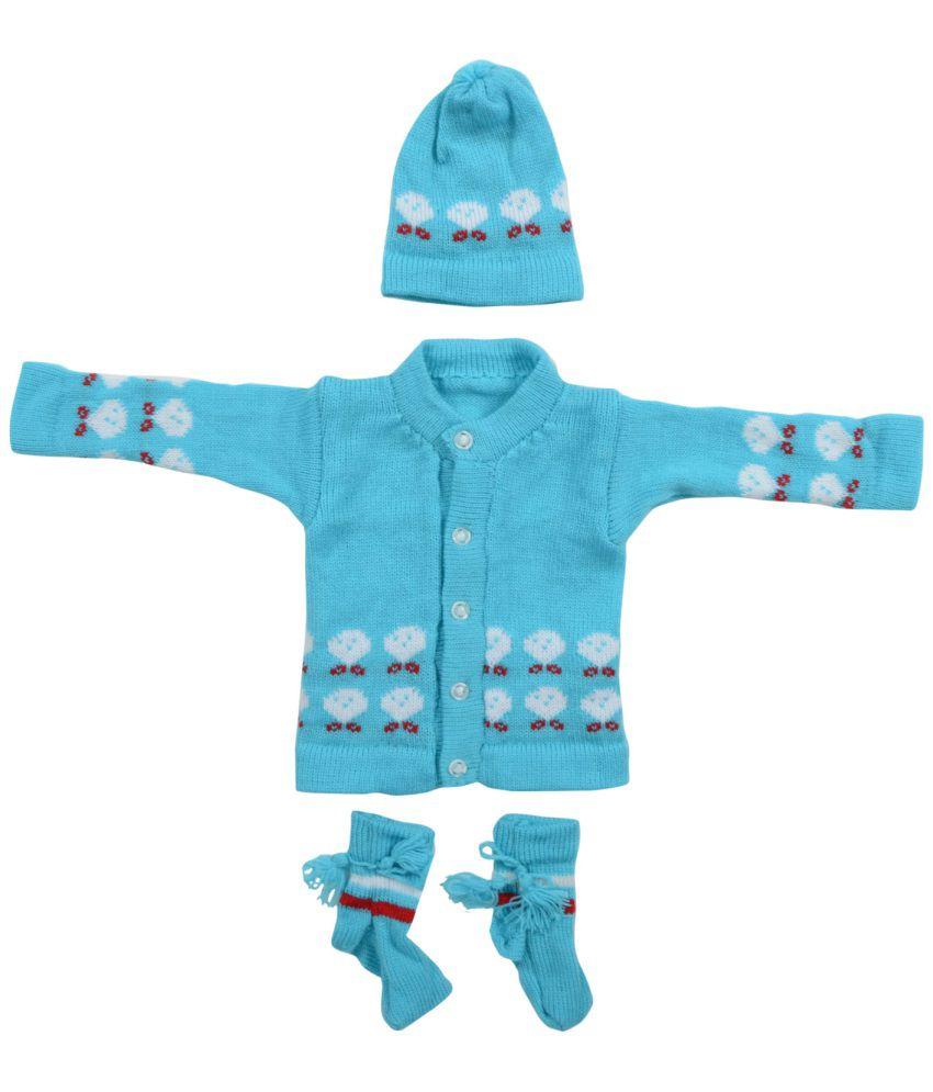 7d1a4a82c Aarna Apparels Blue Woollen Full Sleeves Sweater - Buy Aarna ...