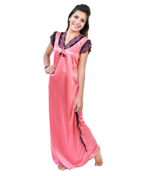 Buy Fashion Zilla Peach Puff Satin Designer Night Gown Set of 1 Online at  Best Prices in India - Snapdeal bd8b69995