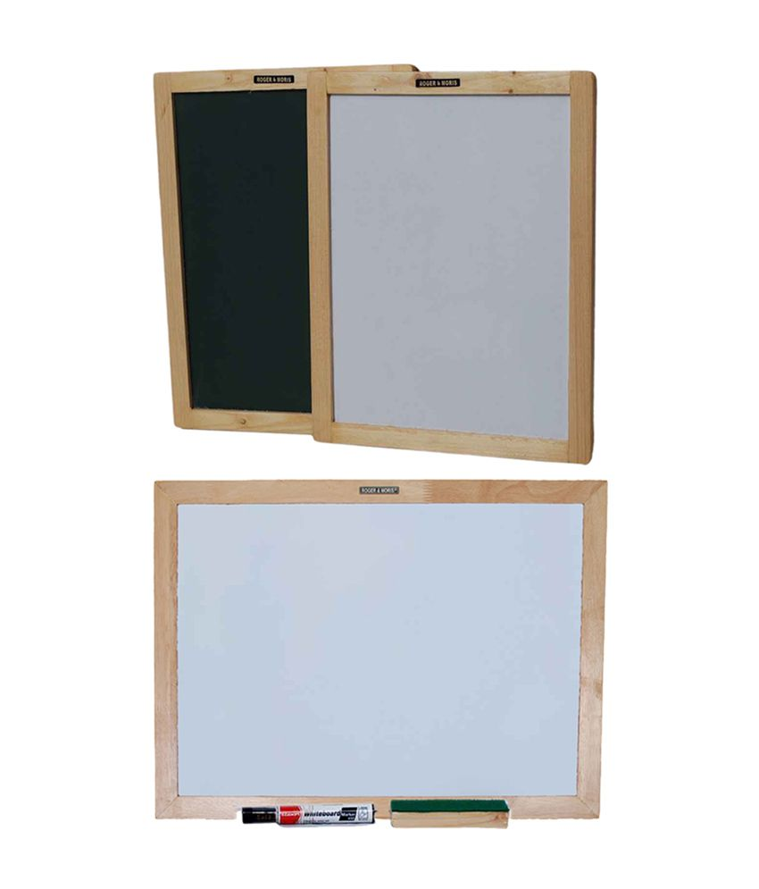 Roger & Moris Wooden Framed White Board (3 x 2) & Get Double Sided ...