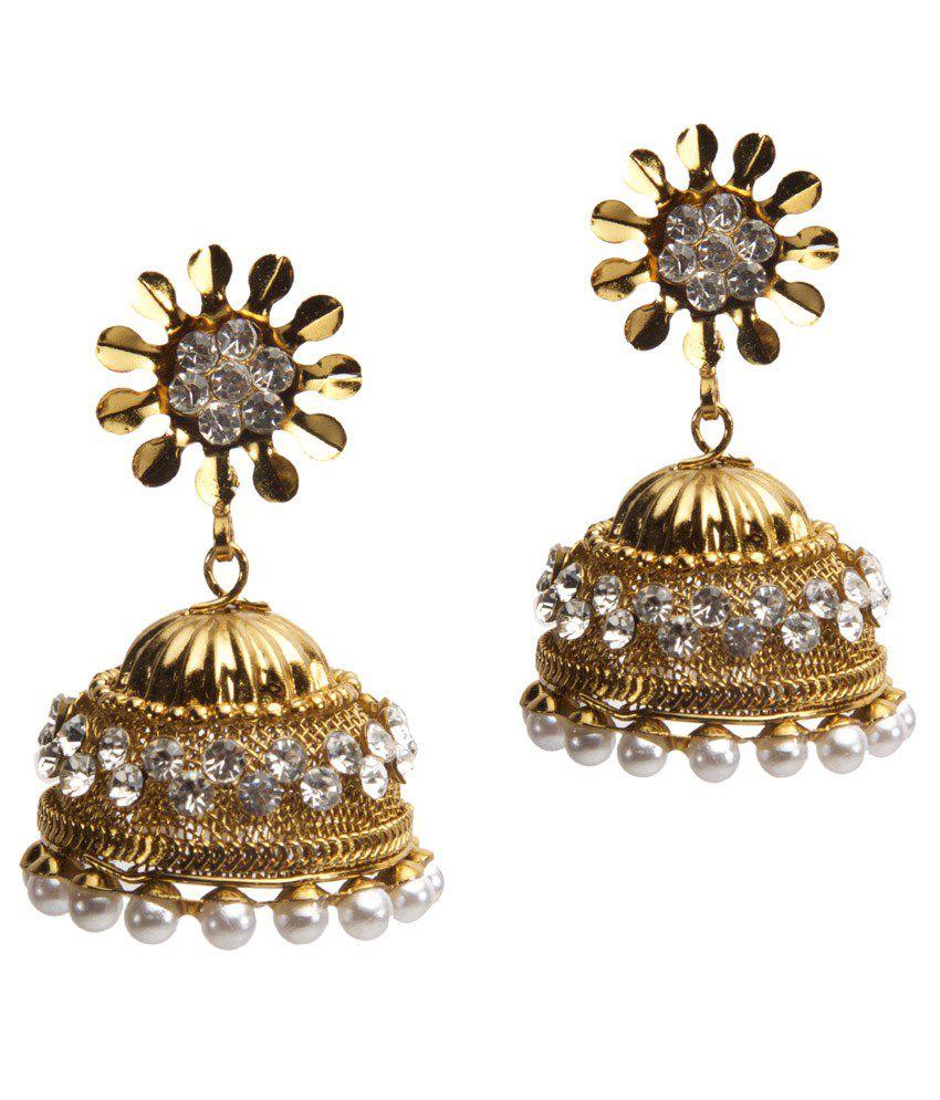 Medallion collection Golden Designer Earrings