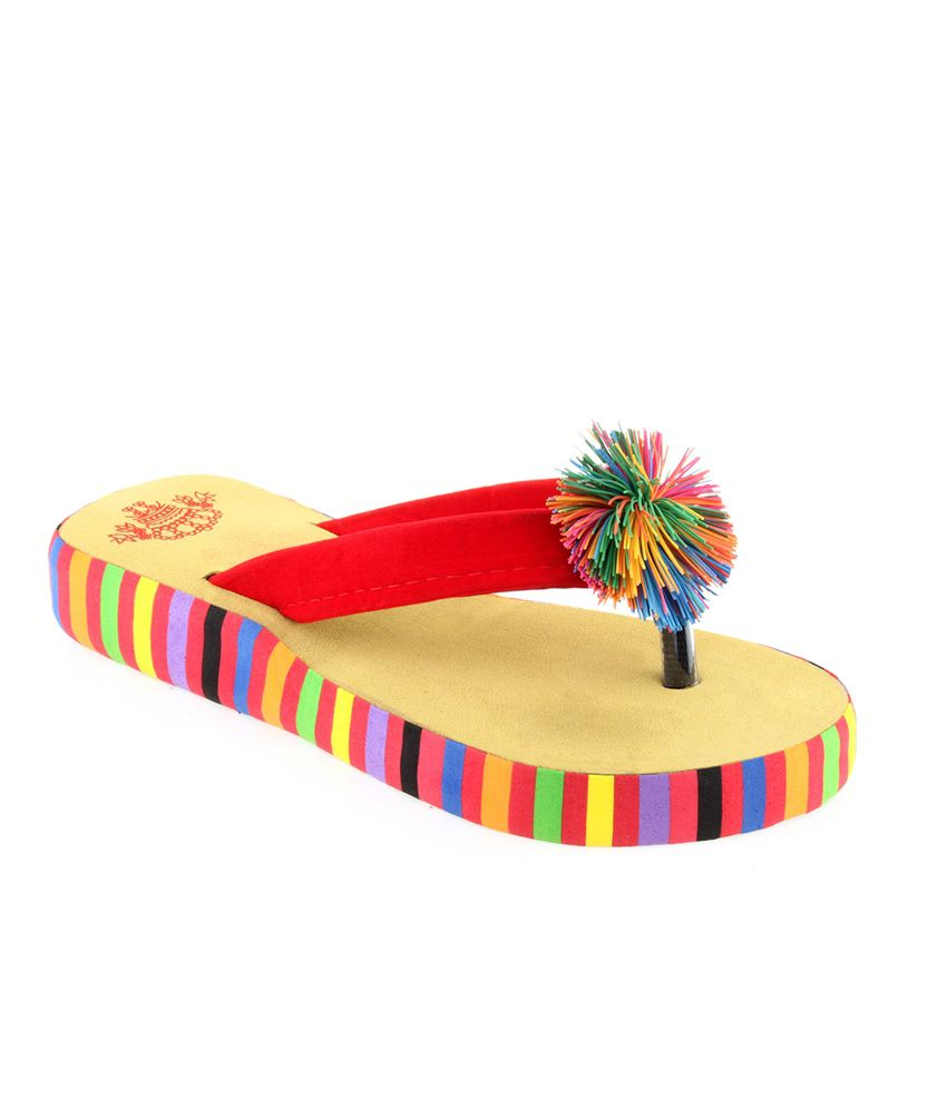 Shoe Lab Multicolour Flip Flops