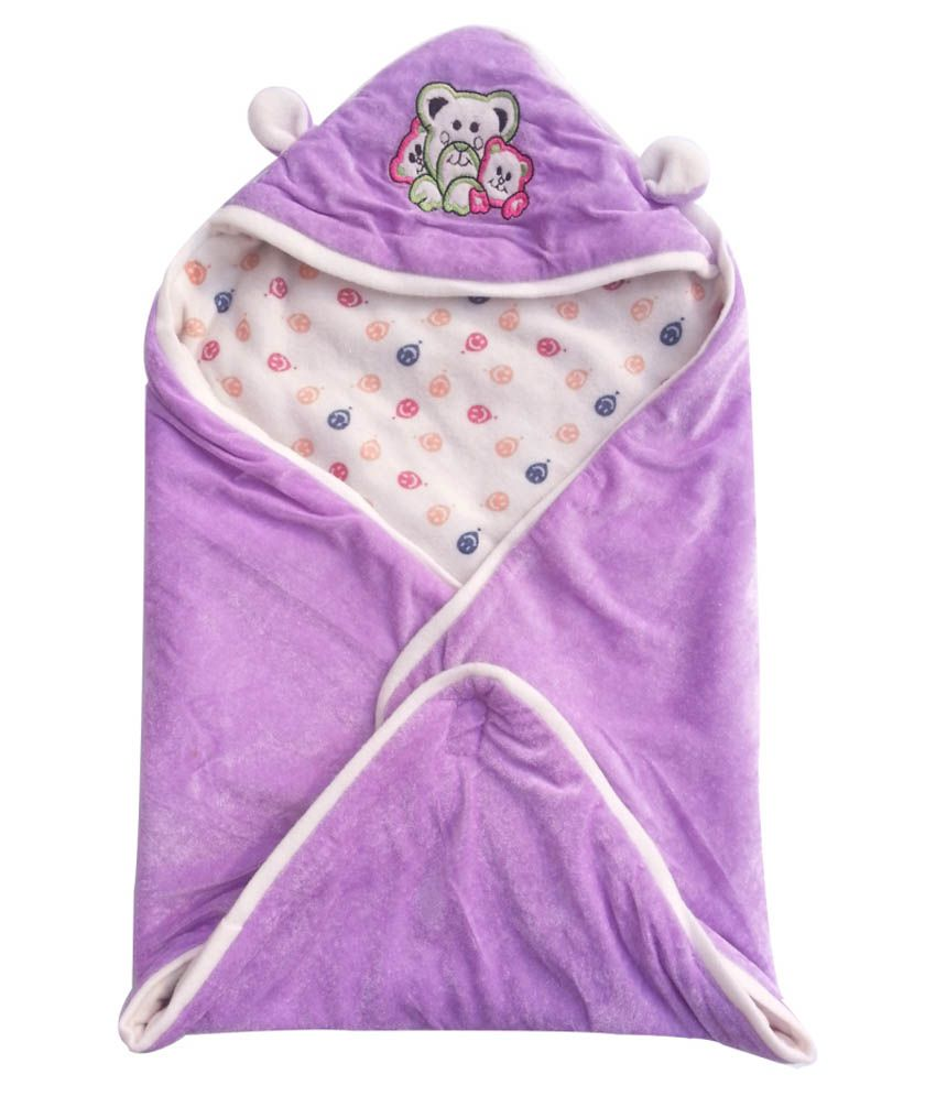 Cute Baby Purple Cotton & Polyfill Baby Wraps