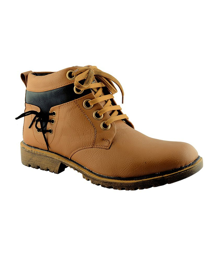 Roadies Brown Lace Boots