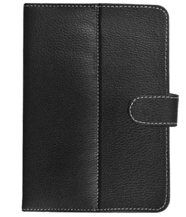 Fastway Flip Cover For Micromax Canvas Tab P480 -Black