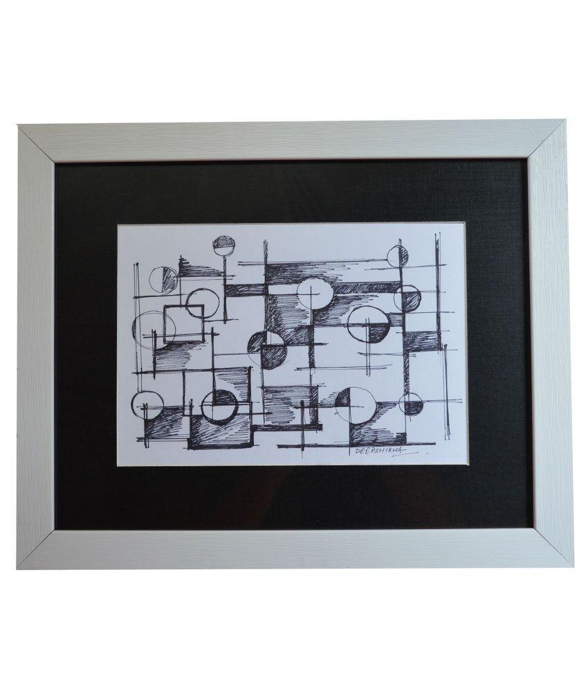 Rangvas White Wooden Maze Handmade Sketch